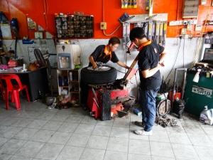 6.0-Reifen-Reparatur